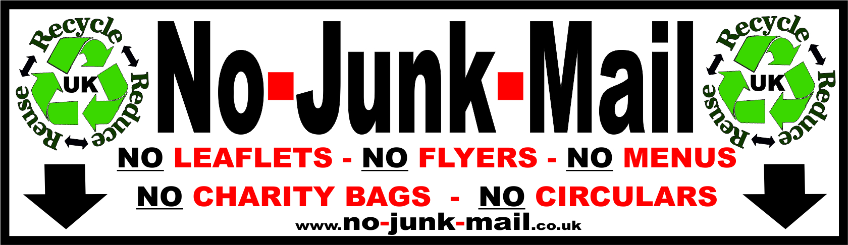 No Junk Mail Sign, No Junk Mail Sticker, Junk Mail Sign, Junk Mail Sticker, Stops Junk Mail, No Junk Mail Letterbox Sticker by www.no-junk-mail.co.uk