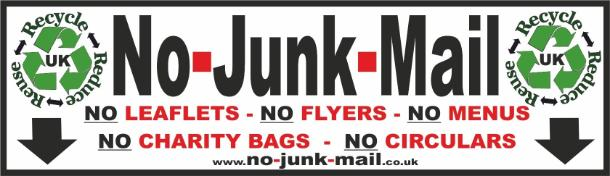 Buy No Junk Mail Stickers, No Junk Mail Stickers
