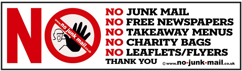 No junk mail sign ref id big red no no junk mail sign