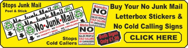 Buy No Junk Mail Stickers