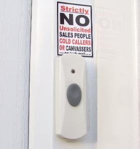 No Cold Calling Sticker, No Cold Calling Sign, No Cold Callers Sign, No Cold Callers Sticker
