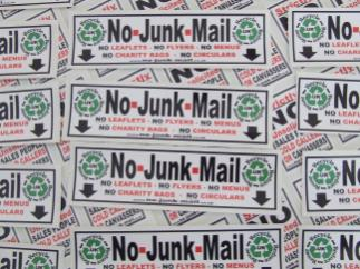 No Junk Mail Sign, No Junk Mail Sticker, Junk Mail Sign, Junk Mail Sticker, Stops Junk Mail, No Junk Mail Letterbox Sticker,
