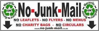 (No Junk Mail Sign Ref ID NJM ) No Junk Mail Sign, No Junk Mail Letterbox Sticker, Free, Vinyl Decal Label, How To Stop UK Junk Mail, Self Adhesive No Junk Mail Sign/Sticker, Stick On. Front Door, Window Sticker, no junk mail sign uk, Buy, Purchase, Suppliers, selection, Unwanted Mail, Addressed Mail Only