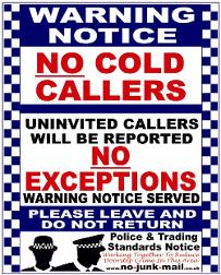 No Cold Caller Warning Notice, No Cold Callers Sticker, No Cold Calling Sign, Window Sticker, Front Door Sticker, Decal Vinyl Label, UK, Self Adhesive Sticker, Police And Trading Standards Sign, Bogus Callers, Rogue Traders, BBC, Doorstep Crime, Neighborhood Watch, No Uninvited Callers, No Salesmen, No Canvassers, No Canvasing No Charities, No Religious Groups, Britain, No Hawkers, No Doorstep Traders, No Cold Calling Zone, Local Police, We Don't Buy At The Door.