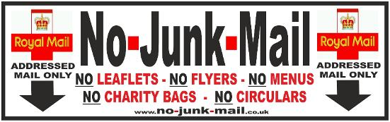 Facebook Offer - No Junk Mail Letterbox Stickers / Mailbox Signs ...