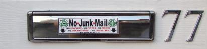 No Junk Mail Sign, No Junk Mail Sticker, No Junk Mail Letterbox Sign/Sticker