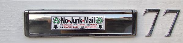 77 Connaught Road, L7 8RW, No Junk Mail Letterbox Sticker, Junk mail Sign.