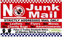 (No Junk Mail Sign Ref ID Square Big Red Junk) No Junk Mail Sign, No Junk Mail Letterbox Sticker, Free, Vinyl Decal Label, How To Stop UK Junk Mail, Self Adhesive No Junk Mail Sign/Sticker, Stick On. Front Door, Window Sticker, no junk mail sign uk, Buy, Purchase, Suppliers, selection, Unwanted Mail, Addressed Mail Only