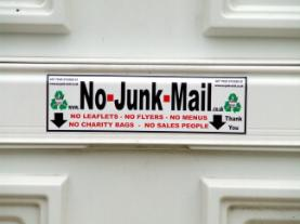 junk mail sign, junk mail sticker, no junk mail, no charity bags, no flyers, no menus, no canvassers, no sales people, no junk mail sign, no junk mail sticker